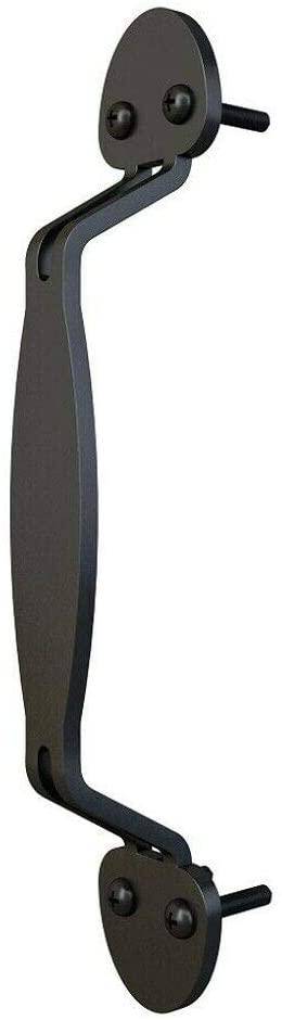JUBEST Flat Black Side Mount Pull Handle for Wood Door Mushroom Style