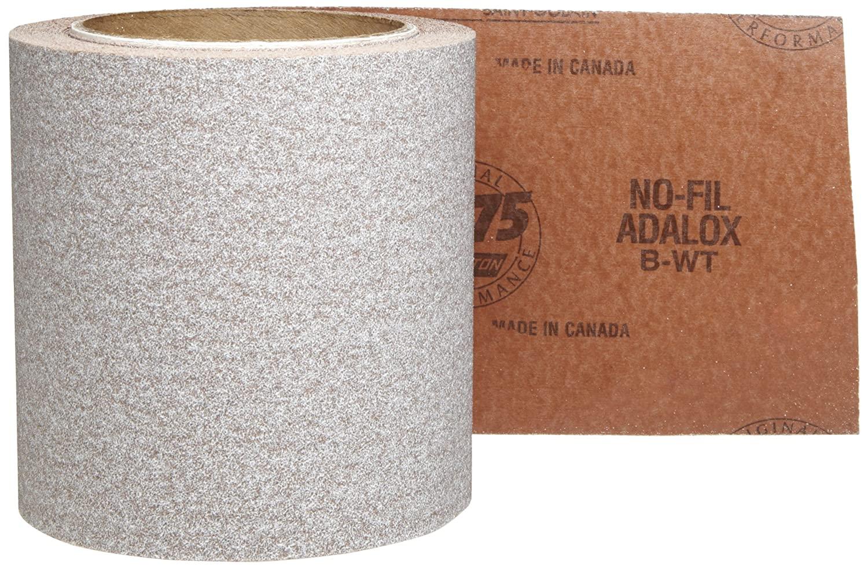 Norton A275 No-Fil Adalox Abrasive Roll, Paper Backing, Pressure Sensitive Adhesive, Aluminum Oxide, Waterproof, Roll 4-1/2