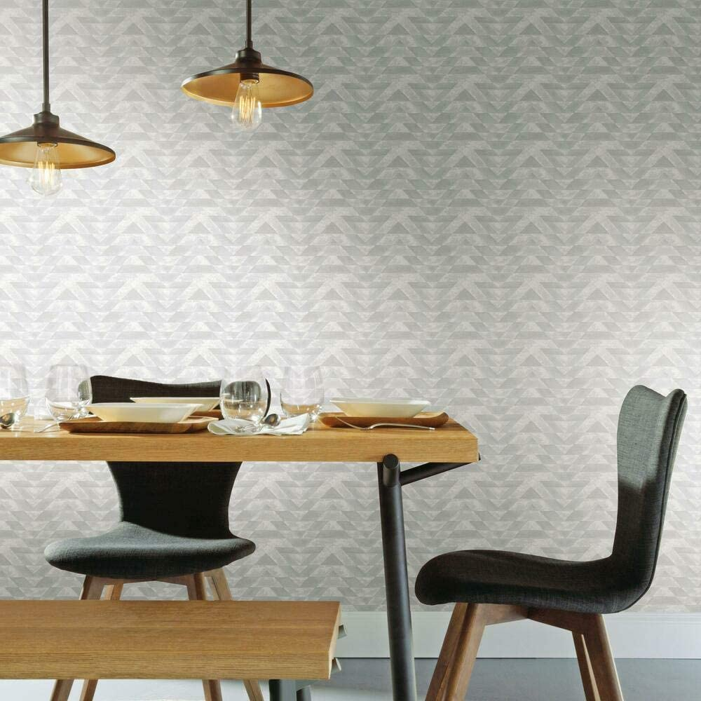 RoomMates Southwest Geometric Gray Peel and Stick Wallpaper | Removable Wallpaper | Self Adhesive Wallpaper