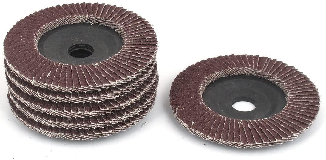 Utoolmart 4 Inch Flap Disc 60 Grits Grinding Wheels Sanding Discs Abrasive Papers 1Pcs