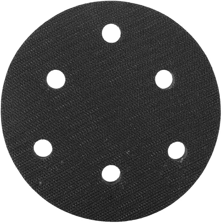 5 Inch Soft Buffer Sponge Interface Cushion Pad for Sanding Pads 5/6/8 Holes(6 holes)