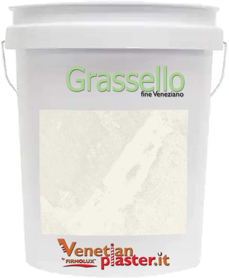 FirmoLux Grassello Authentic Venetian Plaster | Shiny Polished Plaster | Made in Italy from Lime & Marble | Light Colors (3) | Color: BMOC45 Swiss Coffee