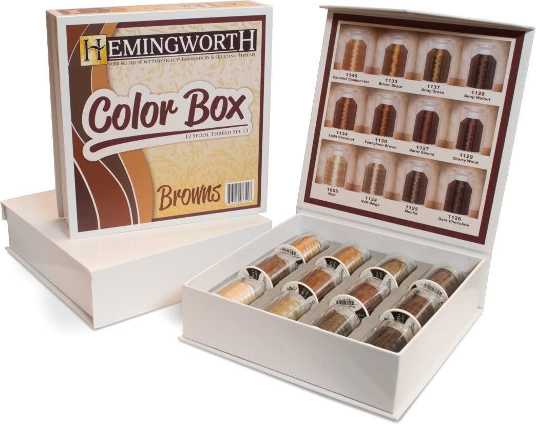Hemingworth Color Box / 13 Browns