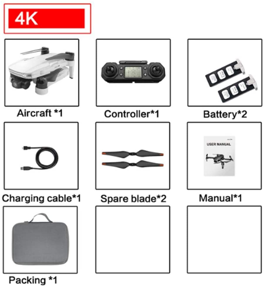 qwrew RC Quadcopter Folding Portable Fixed-Height Drone HD 4k Aerial Photography Remote Control Aircraft Foldable Drone