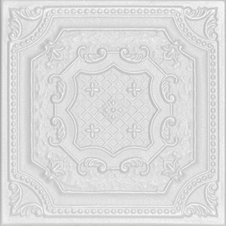 A la Maison Ceilings R126 Bijout Bee Foam Glue-up Ceiling Tile (256 sq. ft./Case), Pack of 96, Plain White