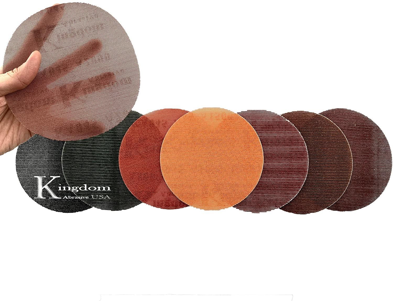 6-In. Kingdom Abrasive Pro-Net Very Fine Assorted Grit, 5 Each of 320, 400, 600 & 800 Pro-Net Mesh Sanding Discs (20-Pack)