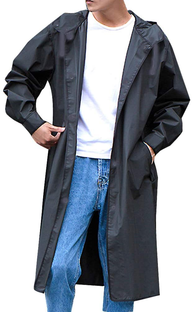 BESPORTBLE Reusable Rain Coat Emergency Raincoats With Hoods Protective Coveralls Disposable Overalls Rain Gear Size L