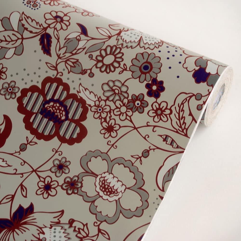 Romantic Garden Gray - Vinyl Self-Adhesive Wallpaper Prepasted Wall Stickers Wall Decor (Roll)
