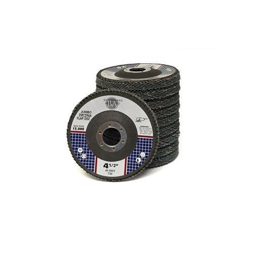 4.5x7/8 Jumbo Zirc Flap Disc Grinding Wheel 40 Grit - 20 Pack