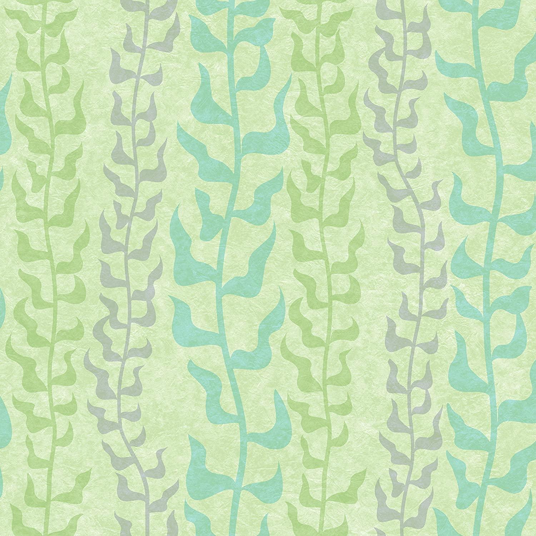 York Wallcoverings Kids III Disney Pixar Dory Seaweed Removable Wallpaper, Greens