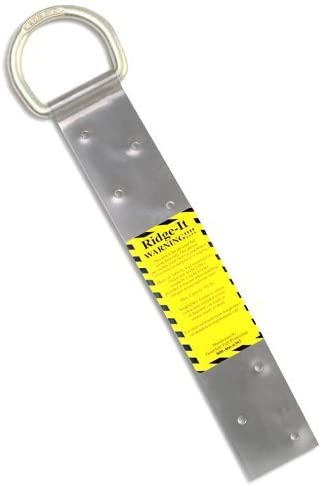 4PK Guardian Fall Protection 00500 - RIDG-1 - Single D-Ring Roof Anchor (nails included) - 11 Inches in Length and 1 D-ring