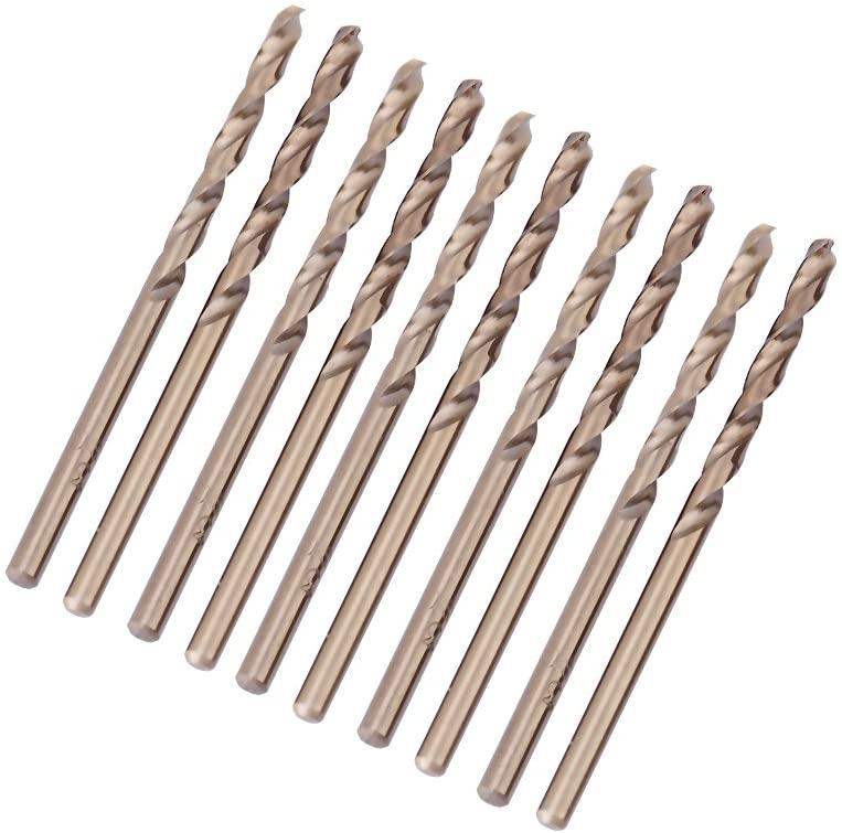 Yosooo M35 Cobalt Drill Bit Set HSS-CO Twist Drills Set 1.0-5.0MM for Drilling on Stainless Steel (3.5mm x 20)