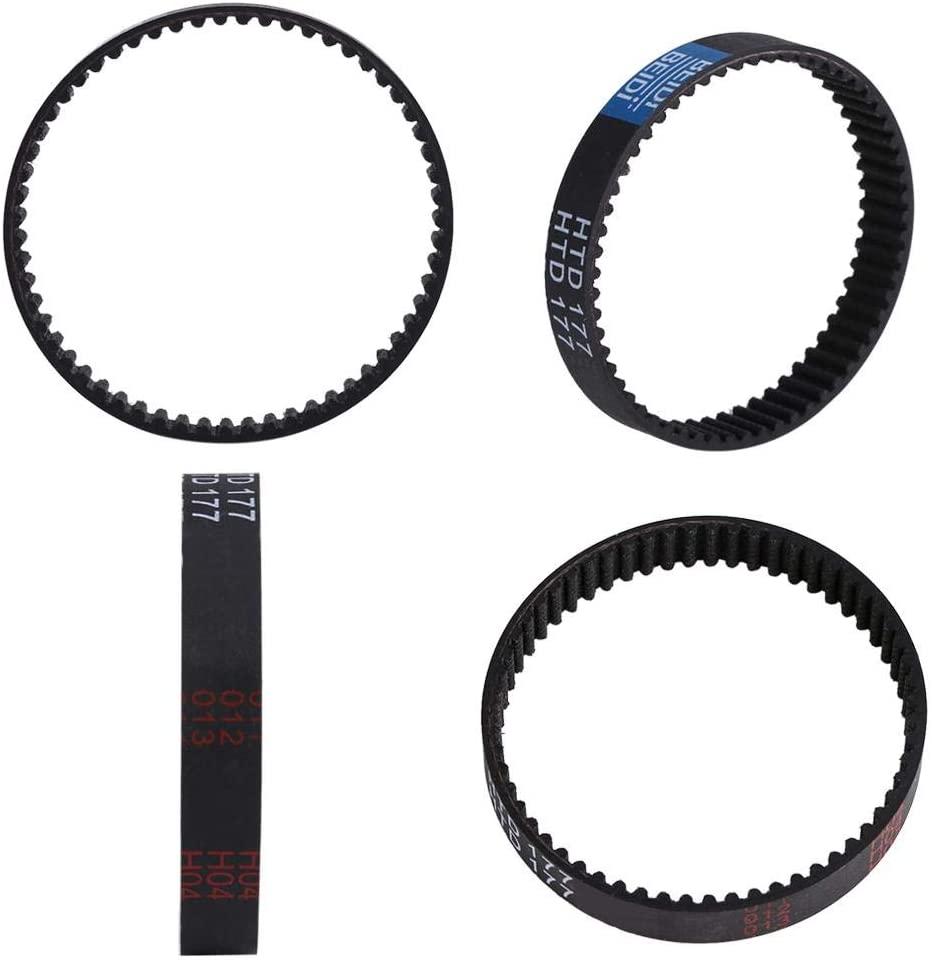 Abrasion Resistance Rubber Belt, Elasticity 9mm Toothed Planer Drive Belt Rubber, Rubber Material for Black Decker Kw715 Kw713 Black Decker Belt Bd713 177