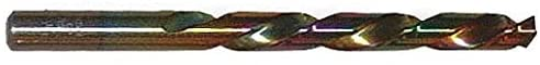 Jobber Length Drill Bit, Drill Bit Size P, Drill Bit Point Angle 135°, Cobalt, Straw/Bronze, Pack of 5