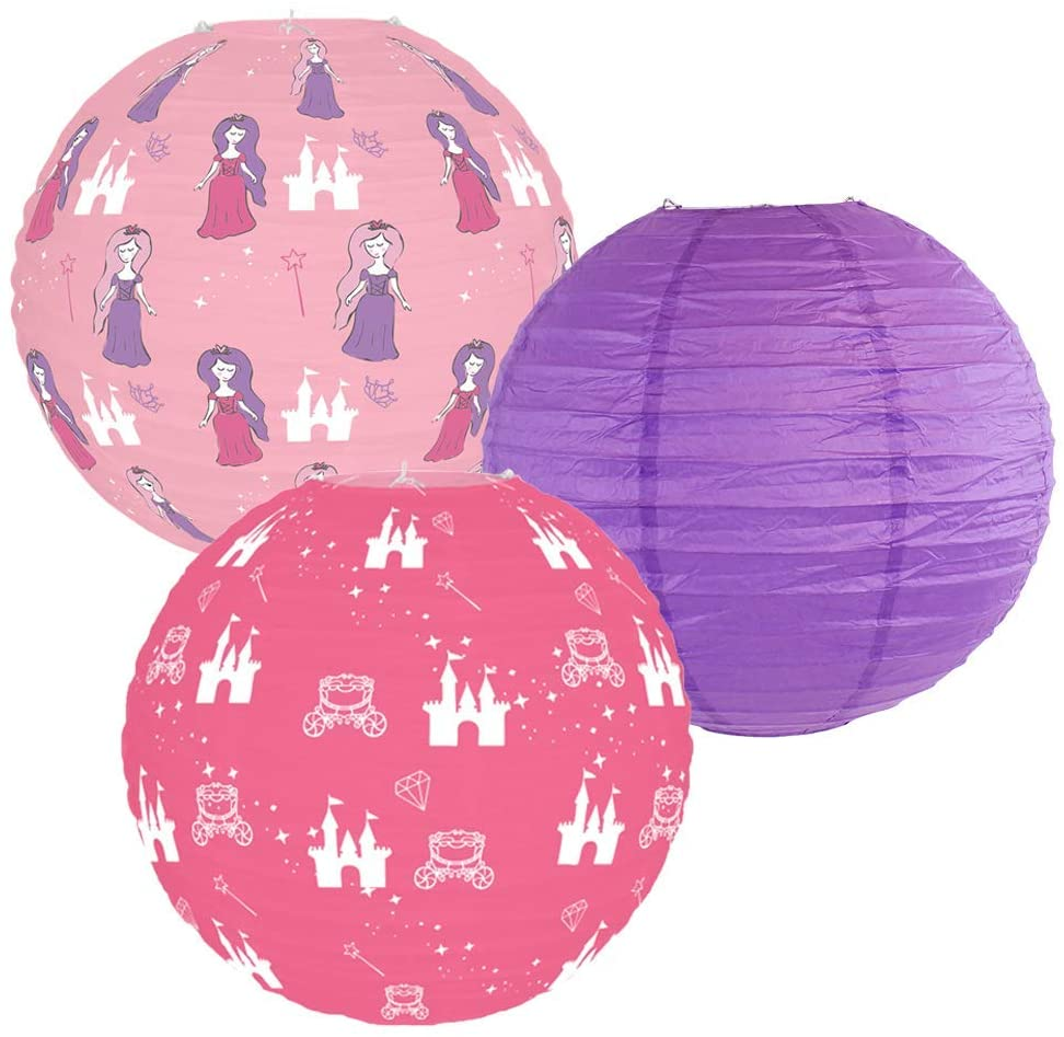 Just Artifacts Decorative Round Chinese Paper Lanterns – Designs by Just Artifacts, Princess Collection (3pcs, Enchanted Wishes)