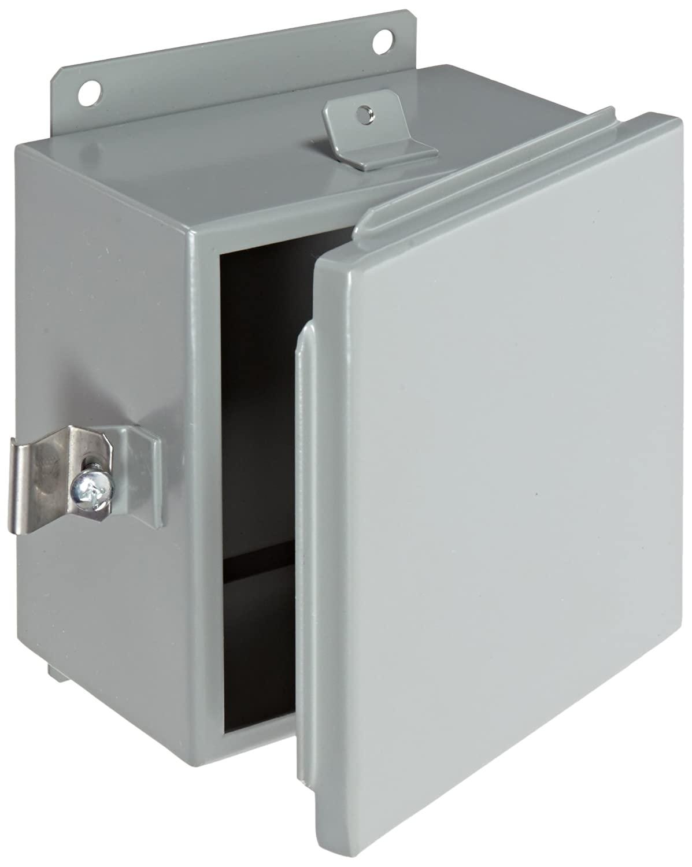 BUD Industries Series SN Steel NEMA 4 Sheet Metal Box with Mounting Bracket, 7-1/2