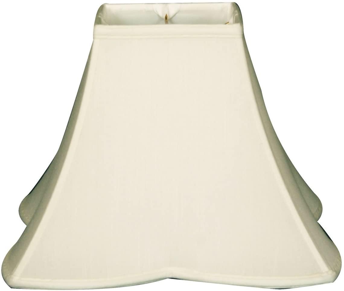 Royal Designs Sharp Corner Fancy Square Basic Lamp Shade, White, 6 x 14x11