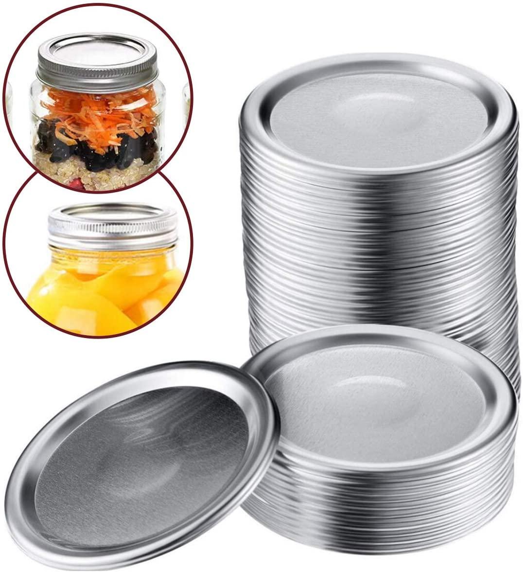ZYP 48Pcs Regular Mouth Canning Lids, Mason Jar Lids Split-type Lids Leak Proof, Secure Canning Jar Caps (70mm/2.75in)
