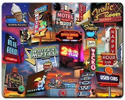 ArtFuzz 30 X 24 Plasma - Neon Sign Collage