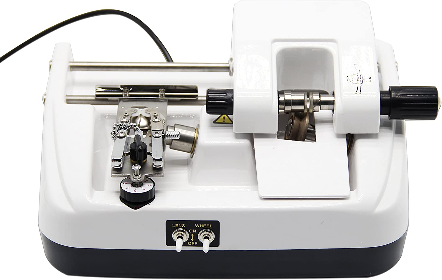 Huanyu Automatic Lens Groover & Beveller Stainless Steel Panel Slotting & Chamfering Machine with Blade (LY-12AT, 110V/60Hz)