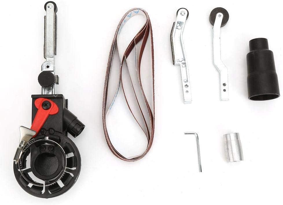 Mini Belt Sander Sanding Head Adapter, Electric Angle Grinder Belt Sander Adapter for Blade Grinding,Grinding Scissors,Stainless Steel Handrail Grinding and Metal Soldering(M14)