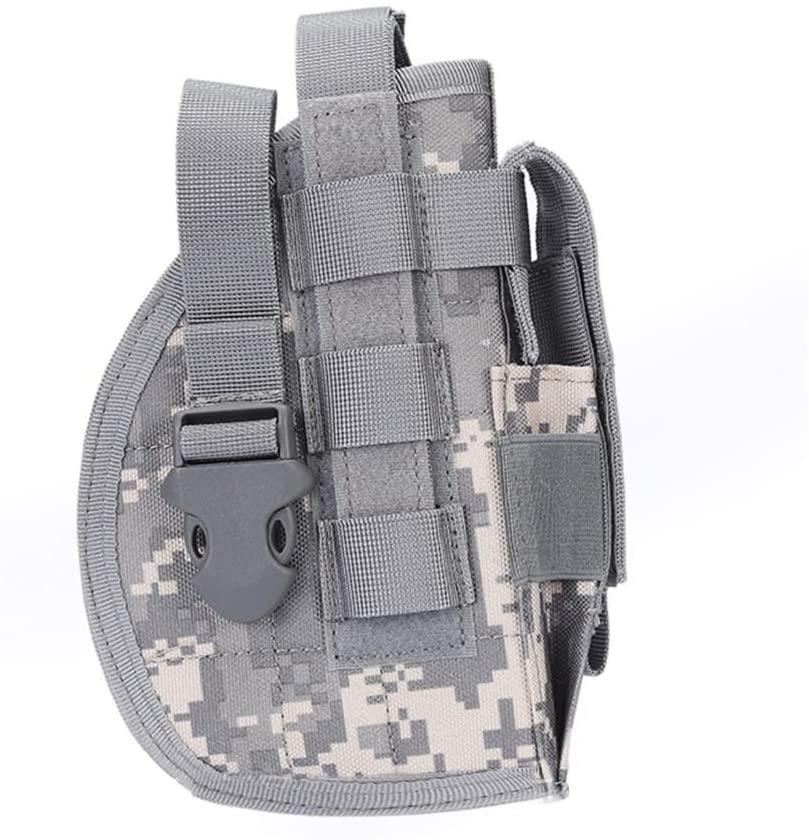 EFGIU Molle Tactical Pistol Thigh Gun Holster, Drop Leg Holster, Right Hand Adjustable