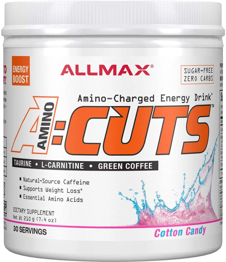 ALLMAX Nutrition ACUTS, Amino-Charged Energy Drink, Cotton Candy, 7.4 oz (210 g)