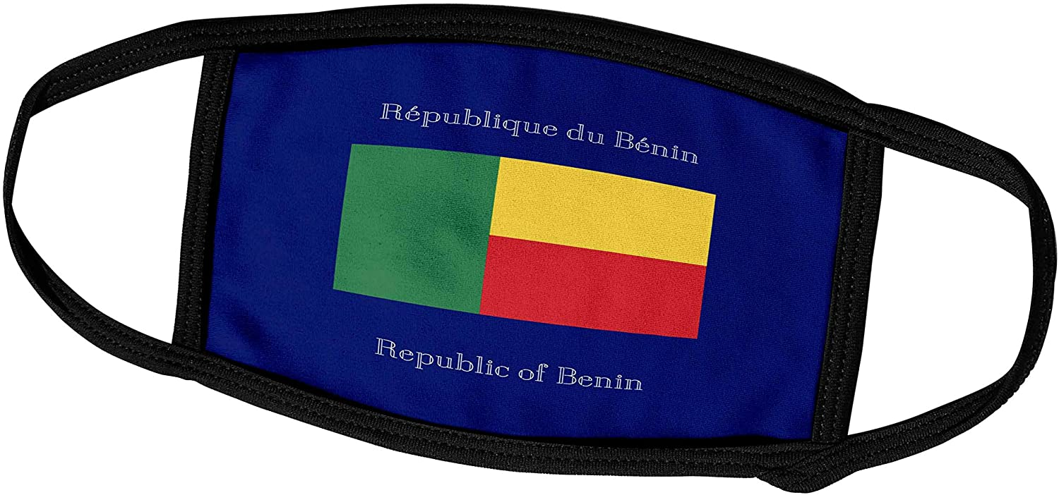 3dRose Flag of The Republic of Benin on a Dark Blue Background with. - Face Covers (fc_151933_3)
