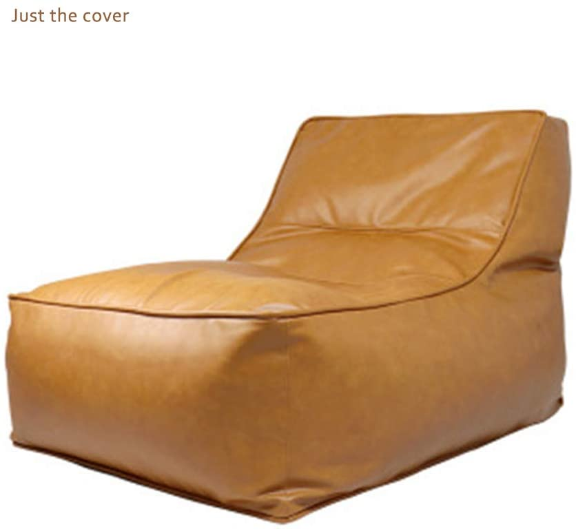 YFYTYG-PX Bean Bag Covers Only Without Filling, Retro PU Material Extra Soft Beanbag Seat Chair Covers Extra Sturdy Zipper and Double Suture