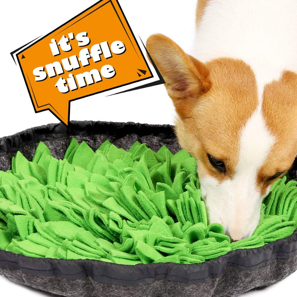 PetFun Snuffle Mat for Dogs, Dog Treat Dispenser Dog Toys for Large Small Dogs Nosework Mat for Dogs Treat Puzzle Dog Snuffle Feeding Mat Interactive Blue