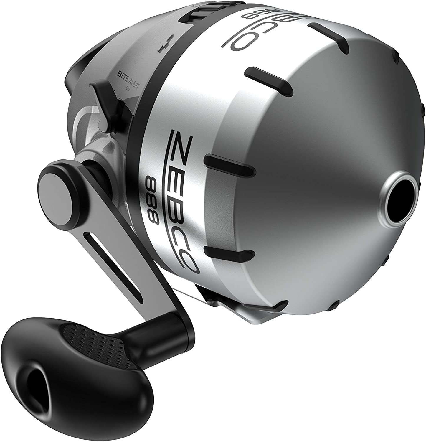 Zebco 888 Spincast Fishing Reel, 3 Bearings (2 + Clutch), Instant Anti-Reverse, Smooth Dial-Adjustable Drag, Stainless Steel Cover, Powerful All-Metal Gears, Pre-Spooled with Zebco Line, Silver