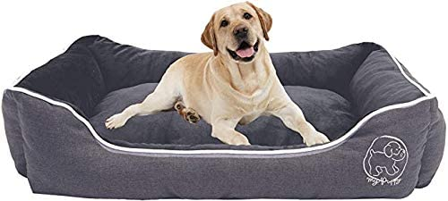 CKAIEE Dog Bed for Medium Dogs,Orthopedic Dog Bed Memory Foam Pet Bed with Washable Cover (XL)