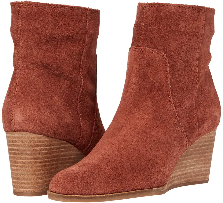 Lucky Brand Women's WAFAEL Fashion Boot, Brandy, Numeric_11