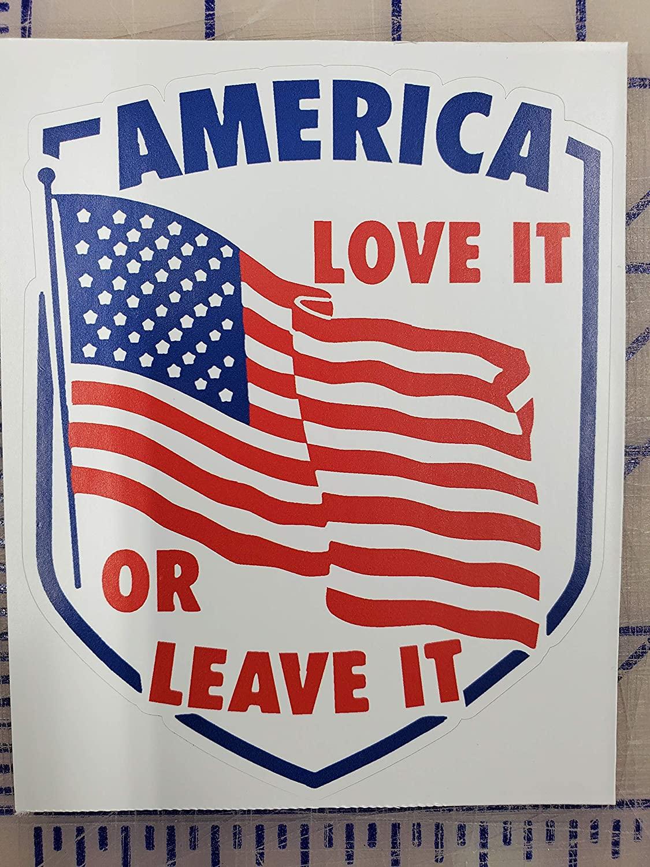 America Love it or leave it President 2020 bumper stickers | Decal Vinyl Sticker | Cars Trucks Vans Walls Laptop | 2nd Amendment American enthusiasts Custom America Merica Flag