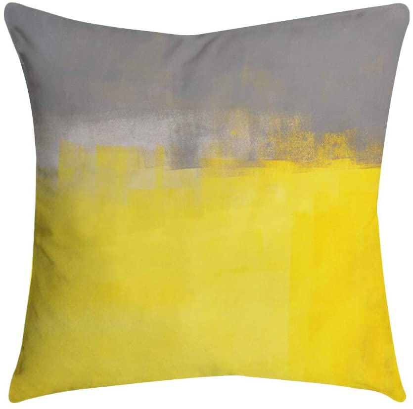 Tinani Decoration Pineapple Leaf Yellow Set Pillow Case Waist Throw Protectors Cushion Cover Home Decor Pillowcases for Sofa Bedroom Car 45 x 45 cm (C, 45 x 45 cm)