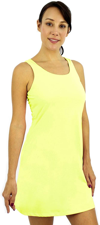 SAVALINO Women's Athletic Tennis Dress, Size XS-XL