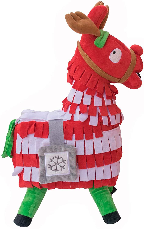 Smashing Thing Loot Llama Plush Stuffed Toy Doll Firgure, Troll Stash Animal Alpaca Gift with Keychain (ChristmasM)