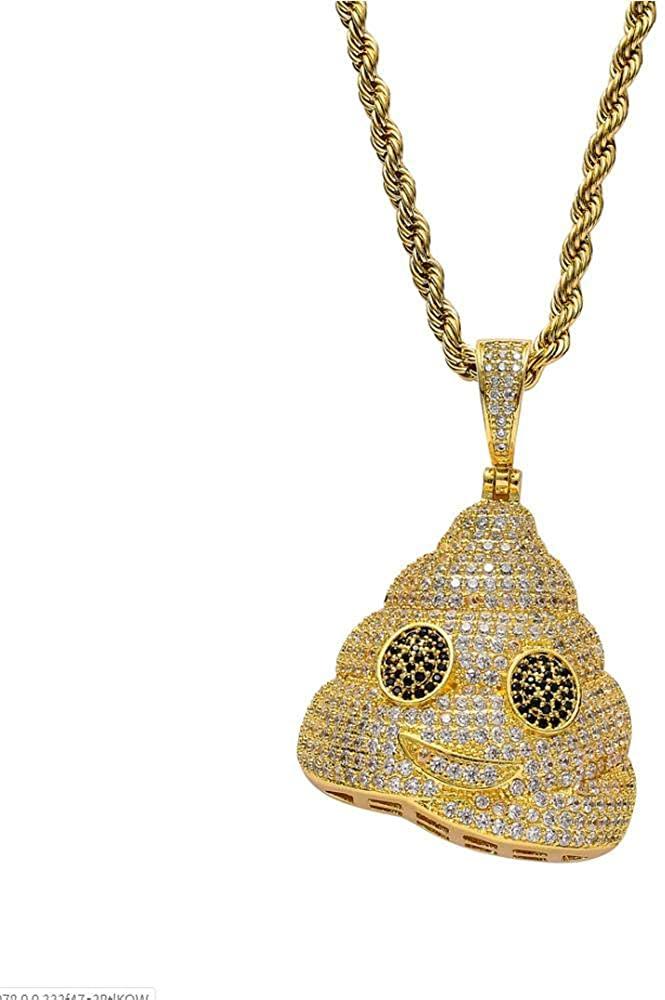 HNJYXX Men's Women's Modern Pop Classic Personality Fashion Creative Stool Emoji Pendant Pendant Necklace