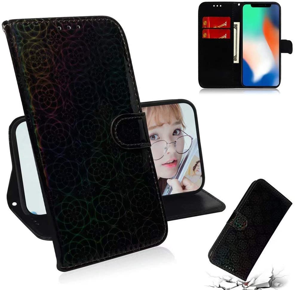 Luckyandery iPhone X Wallet case Purse,iPhone X Leather case Protective, Leather Wallet Case,Flip Case Cover with Stand Function & Credit Card Slots for iPhone X
