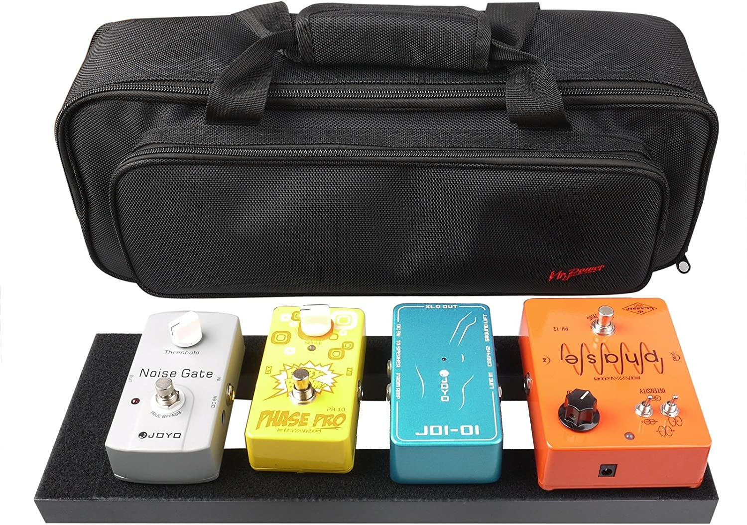 Mr.Power 15 inch Pedal Board Made By Aluminium Alloy With Carry Bag (Small Pedalboard with Bag)