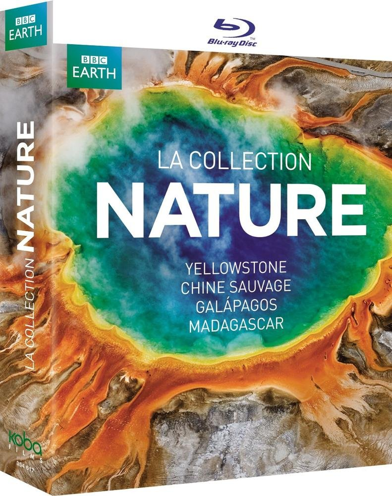 Coffret Collection Nature [Blu-ray] (Yellowstone, Chine sauvage, Galapagos et Madagascar)