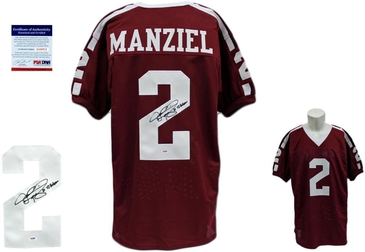 Johnny Manziel SIGNED Jersey - PSA/DNA - Texas A&M Autographed w/Heisman '12 - Autographed NFL Jerseys