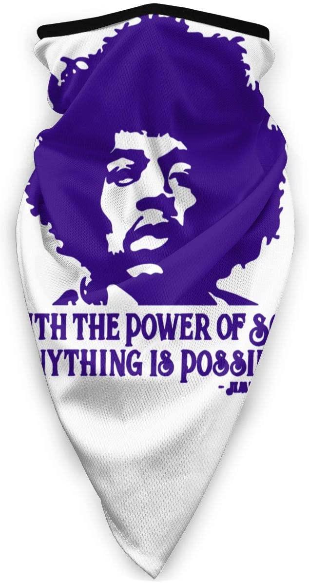 Qwtykeertyi Jimi Hendrix Balaclava Bandana Face Cover Mask Shield Scarf Seamless Neck Gaiter