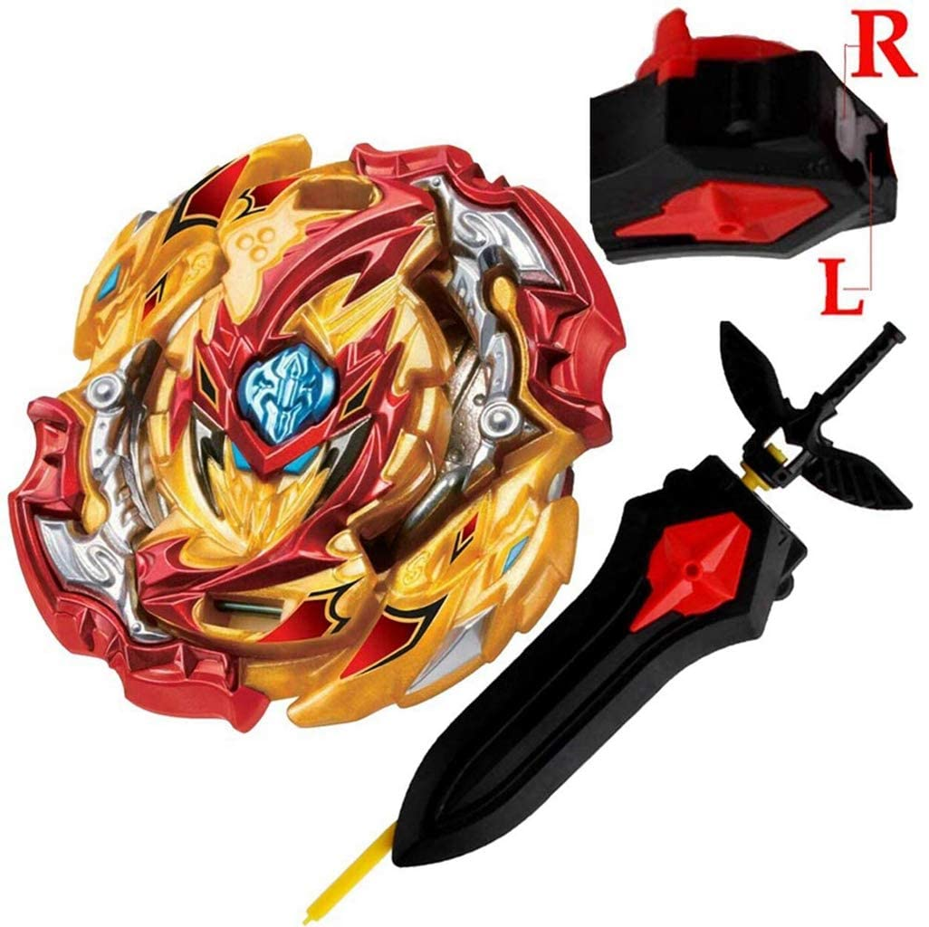 Bey Battle Evolution Blade Turbo God Bay B-149 Booster Lord Spriggan/Spryzen Gyro Starter Set Lr Sword Launcher Grip Kits Batting Top Games Accessories Bey Burst Gaming Tops Spinning Toy Gift for Boys