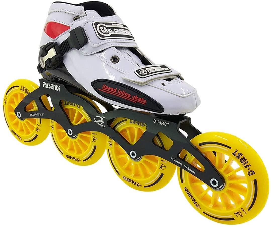 Professional Roller Skates Four Men's and Women's Roller Skate Handmade Wheels Speed Skating Boots