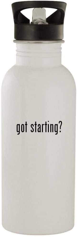 got starting? - 20oz Stainless Steel Water Bottle, White
