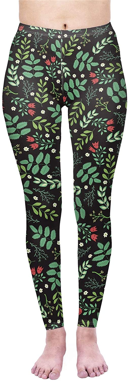 kukubird [Originally British Designed Wonder Land Women's Yoga Leggings Gym Fitness Running Tights