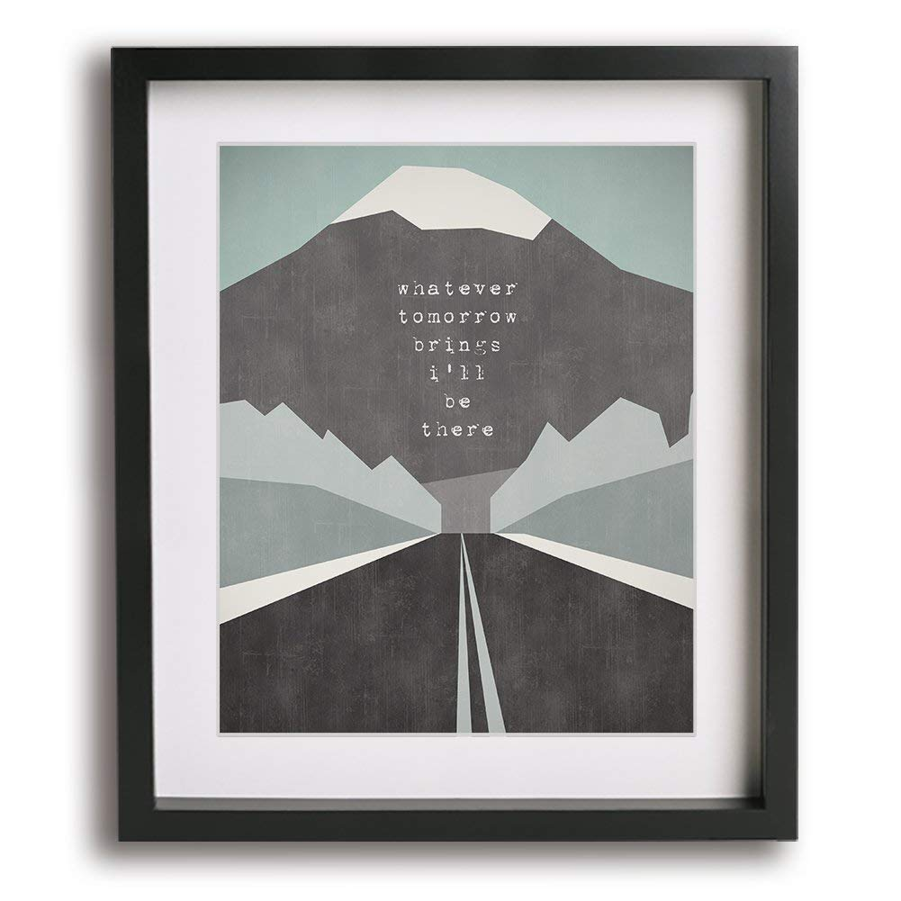 Drive by Incubus inspired song lyric wall art print gift idea music poster artwork