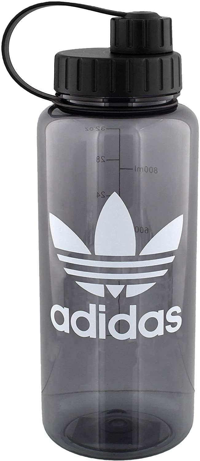 adidas Originals OG National 1l Plastic Water Bottle, Onix/White, ONE SIZE