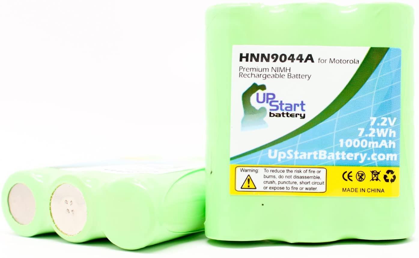 2X Pack - HNN9056A, HNN9056AR Battery for Motorola Talkabout Distance DPS, Spirit MV21CV, HP50, MV11CV Two-Way Radio (1000mAh, 7.2V, NI-MH)
